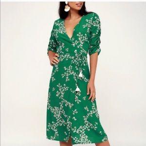 Faithfull the Brand Estelle floral midi wrap dress